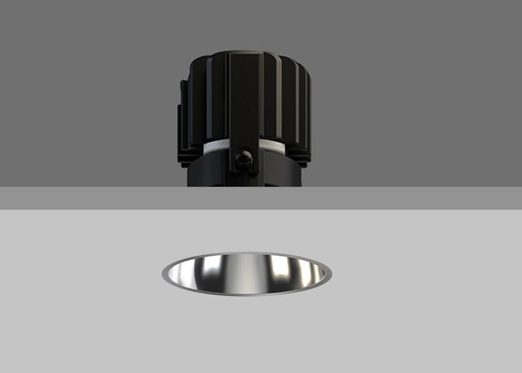 Minitrim 62 Wallwasher Specular Silver